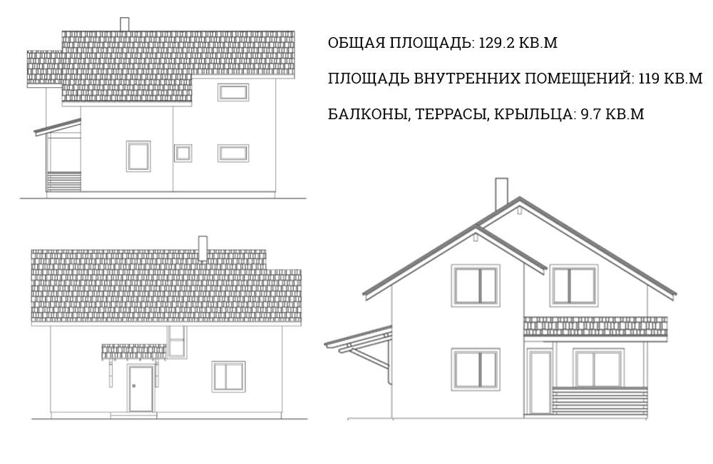 Жилой дом «Уютное гнездышко 120»